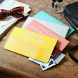 Personalised Bold Slim Iridescent Travel Wallet in All Colours