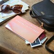 Personalised Bold Slim Iridescent Travel Wallet in Pink