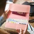 Inside Lisa Angel Personalised Name Slim Travel Wallet