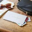 Grey Star Lisa Angel Personalised Name Slim Travel Wallet