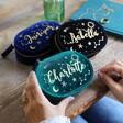 Lisa Angel Ladies' Personalised Starry Night Velvet Oval Jewellery Case