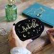 Lisa Angel Ladies' Starry Night Velvet Oval Jewellery Case