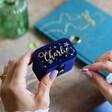 Lisa Angel Ladies' Personalised Starry Night Velvet Petite Travel Ring Box