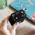 Starry Night Velvet Petite Travel Ring Box in Black From Lisa Angel