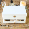 Lisa Angel Embroidered White Jewellery Box with Drawers
