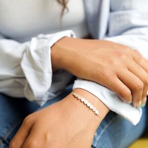 Disc Chain Bracelet in Silver