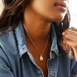 Model Wearing Necklace