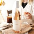 Personalised Gold Label Bottle of Rose Wine