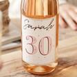 Close Up of Lisa Angel Personalised 'Milestone 30th Birthday' Bottle of Wine
