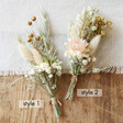 Styles of Handmade Natural Dried Flower Buttonholes