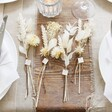 Personalised Set of White Dried Flower Place Settings Set of 4