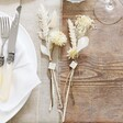 Lisa Angel Personalised Set of White Dried Flower Place Settings Set of 2
