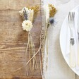Set of Two Lisa Angel Blue and Gold Dried Flower Place Settings