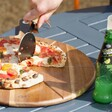 Large Pizza Cutter & Serving Board Set
