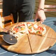 Round Serving Board and Pizza Cutter  Set