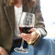 Lisa Angel Engraved Personalised Message Wine Glass