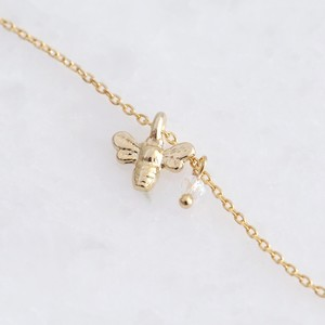 Gold Bee Charm Anklet