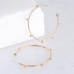 Orb Hoop Earrings in Gold