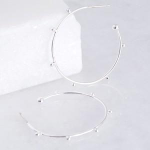 Orb Hoop Earrings in Silver