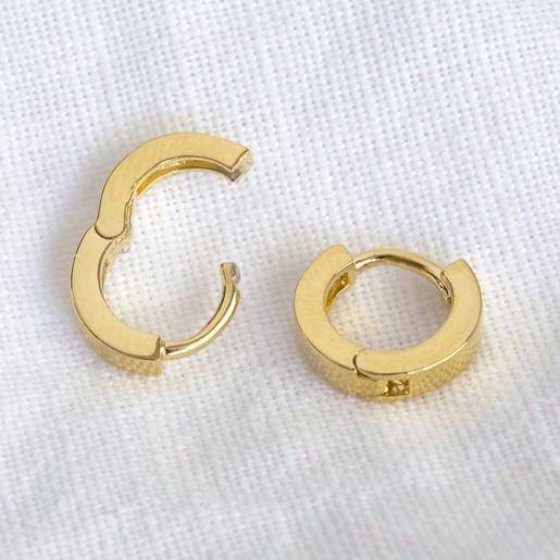 edbc47915 Lisa Angel Ladies' Tiny Gold Sterling Silver Huggie Hoop Earrings