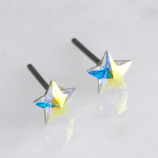 246b0c2ed5b Small Clear Crystal Star Stud Earrings   Jewellery   Lisa Angel