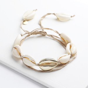 Natural Shell and Rope Anklet / Necklace