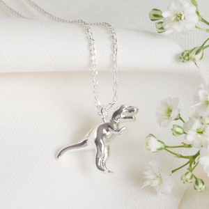Silver T-Rex Dinosaur Necklace