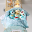Lisa Angel with Handmade Bomb Cosmetics Head in the Clouds Creamer Bath Gift Set