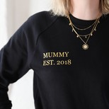 Personalised 'Mummy Est.' Sweatshirt in Black