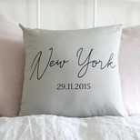Personalised Special Date Light Grey Cushion