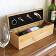 Lisa Angel Adults 4 Piece Wooden Wine Box Gift Set