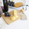 Lisa Angel Mini Wooden Cheese Board and Knife Set