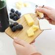 Lisa Angel Unisex Mini Wooden Cheese Board and Knife Set