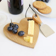Lisa Angel Ladies' Mini Wooden Heart Cheese Board and Knife Set