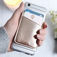 Lisa Angel with Casery Card Holder Phone Pocket in Rose Gold