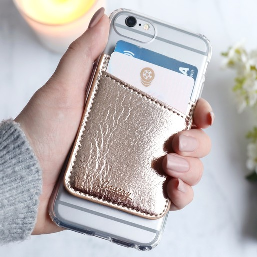 size 40 8c805 1d3ee Casery Card Holder Phone Pocket in Rose Gold