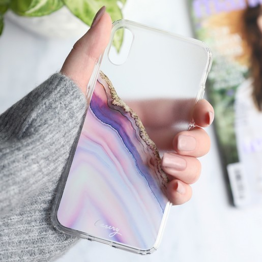brand new 06f9a 1fb74 Casery Pink and Blue Agate iPhone X/XS Case