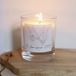 Personalised Valentine's 'In Love Since' Scented Candle