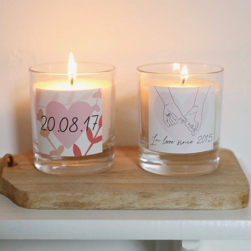 222ae26d87 Lisa Angel Romantic Personalised Valentine's Scented Candle