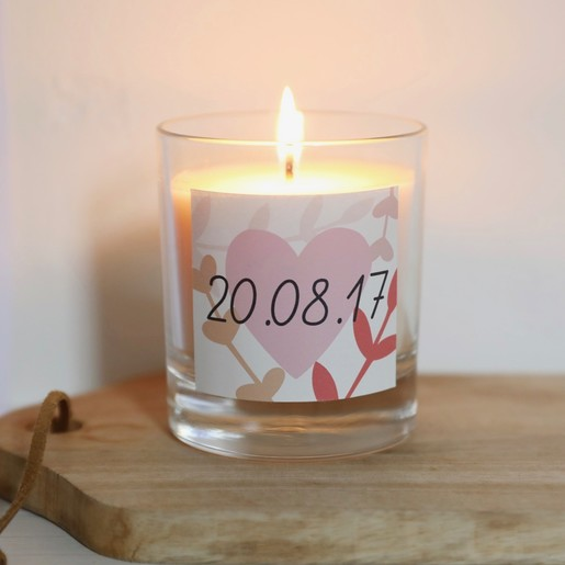 Personalised Special Date Scented Candle