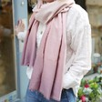Lisa Angel Ladies' Light Soft Pink Ombre Scarf