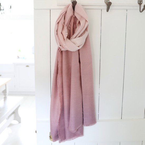 Soft Pink Ombre Scarf