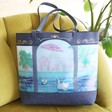 Lisa Angel with Large Colourful House of Disaster Boulevard Swimming Baths Tote Bag