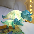 Kids Small House of Disaster Mini Triceratops LED Night Lights