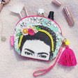 Lisa Angel with House of Disaster Frida Kahlo Make Up Bag