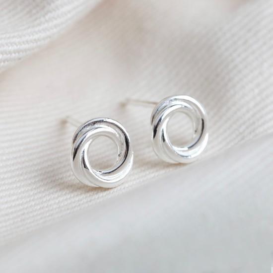 Sterling Silver Russian Ring Earrings