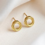 Sterling Silver Russian Ring Earrings in Gold