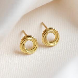 Sterling Silver Russian Ring Earrings in Gold