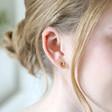 Sterling Silver Russian Ring Earrings in Gold on Model