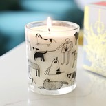 ARTHOUSE Unlimited 'Dogs' Rhubarb and Ginger Scented Candle